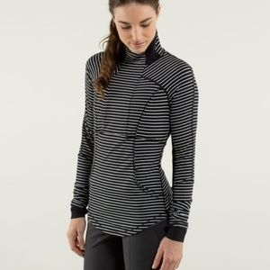 Lululemon Striped Base Runner 1/2 Zip Pullover